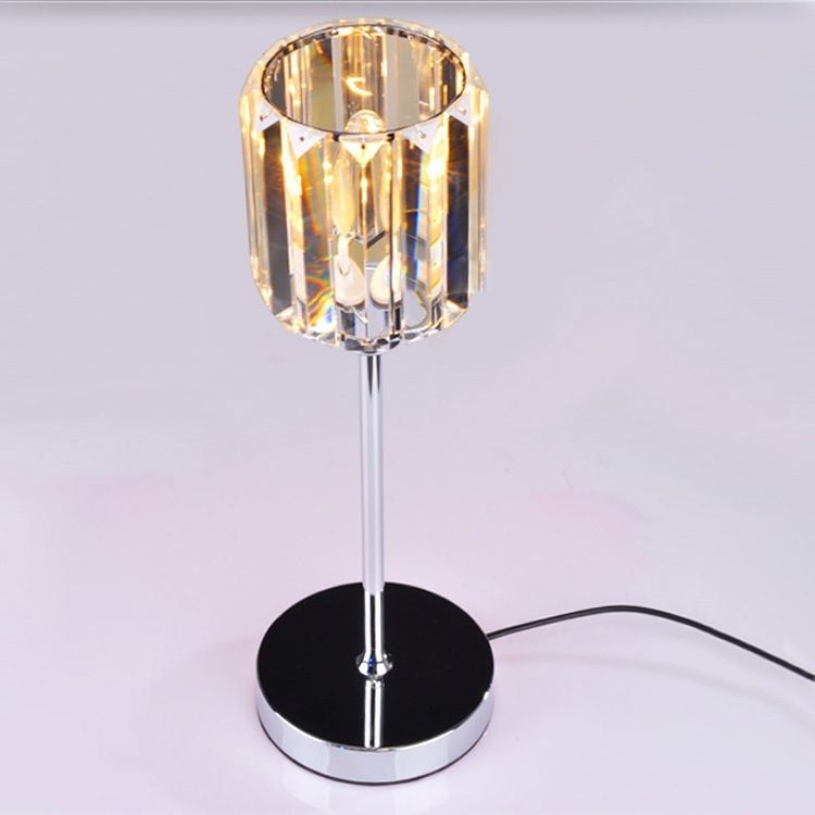 95.00$  Buy now - http://aliziz.worldwells.pw/go.php?t=2028022877 - Modern Crystal Bedroom Bedside Table Light Chrome Stylish Bar Counter Desk Lighting Fixture Creative Study Room Desk Lights 95.00$