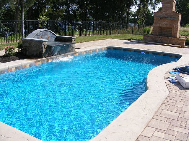 Like pool color pool water features swimming pool water - Swimming pool water feature ideas ...