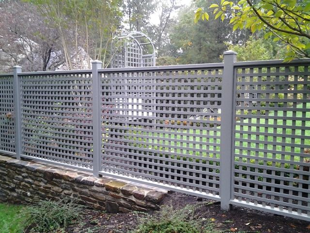 Wrought Iron Lattice Fence With Images Fence Landscaping