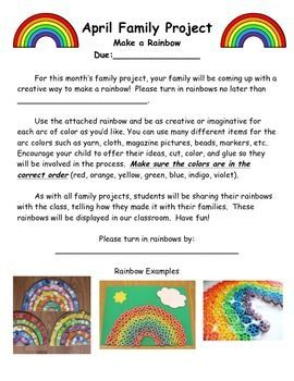 Monthly Family Projects 806580 Teaching Resources