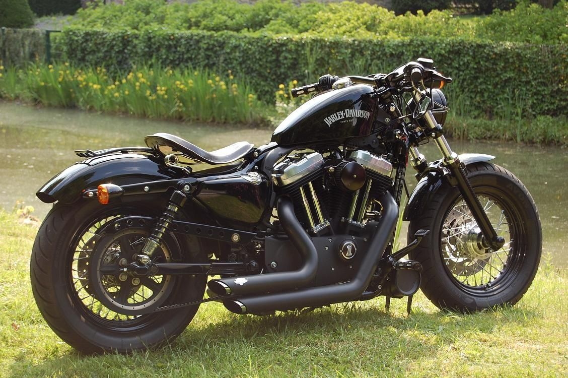 sportster 48 nice tank and rear rack sportster stash. Black Bedroom Furniture Sets. Home Design Ideas