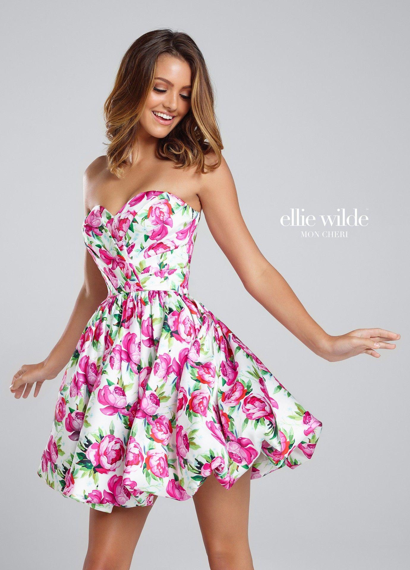 Ellie wilde ew is a cute short floral printed dress that