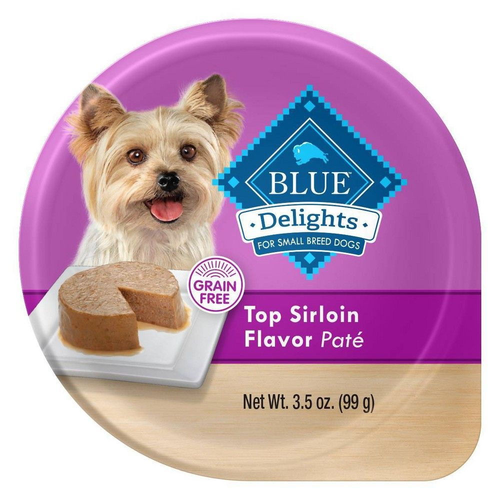 Blue Buffalo Divine Delights Top Sirloin Pate Wet Dog Food 3 5