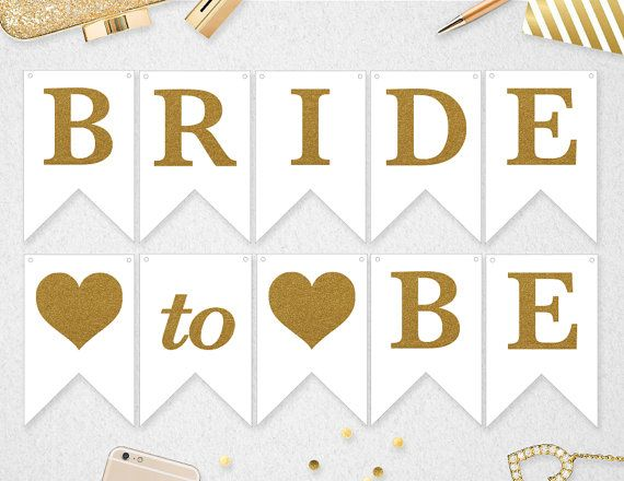 Bride To Be Banner Bride To Be Bridal Shower Banner Bride