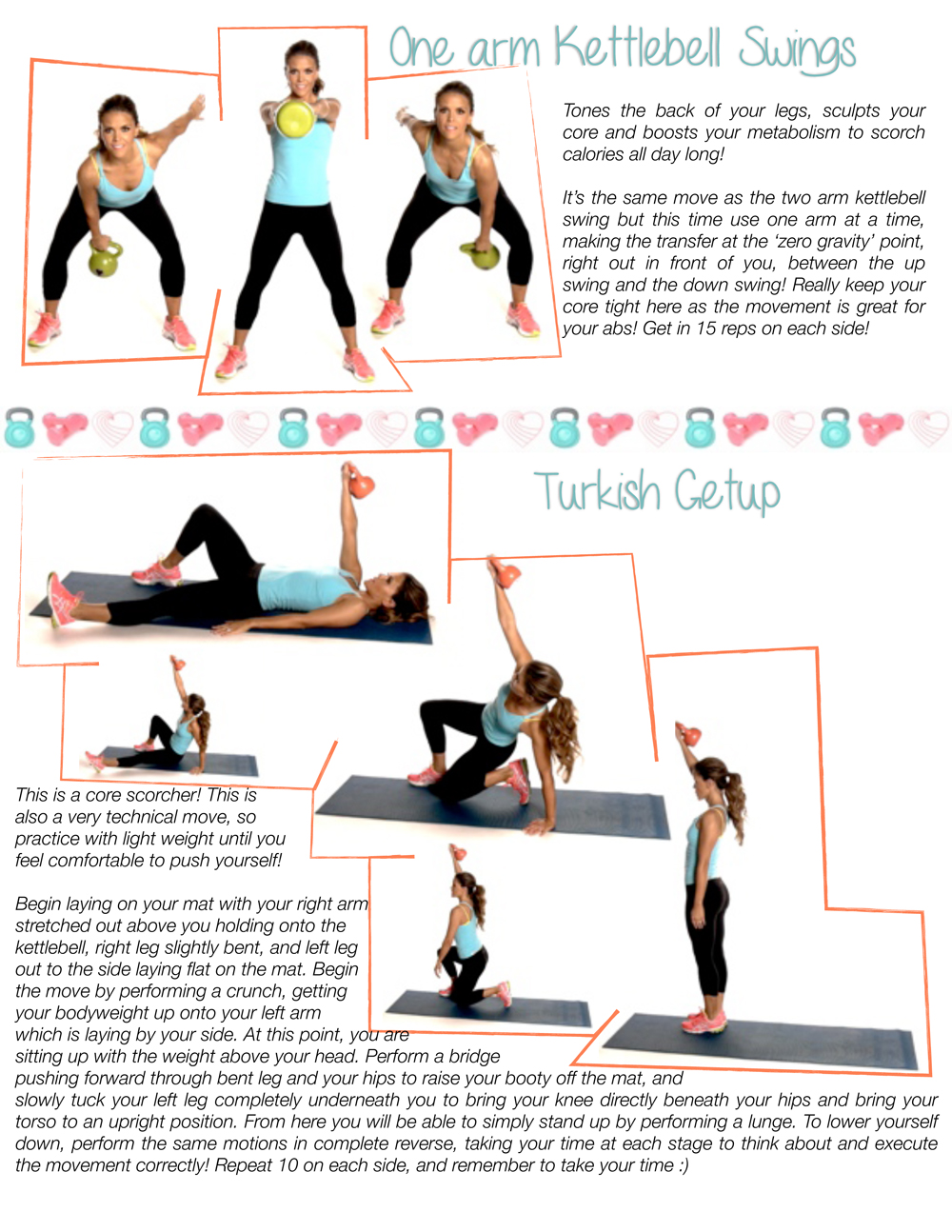 Free Printable Kettlebell Workouts One Arm Swings Turkish Getup