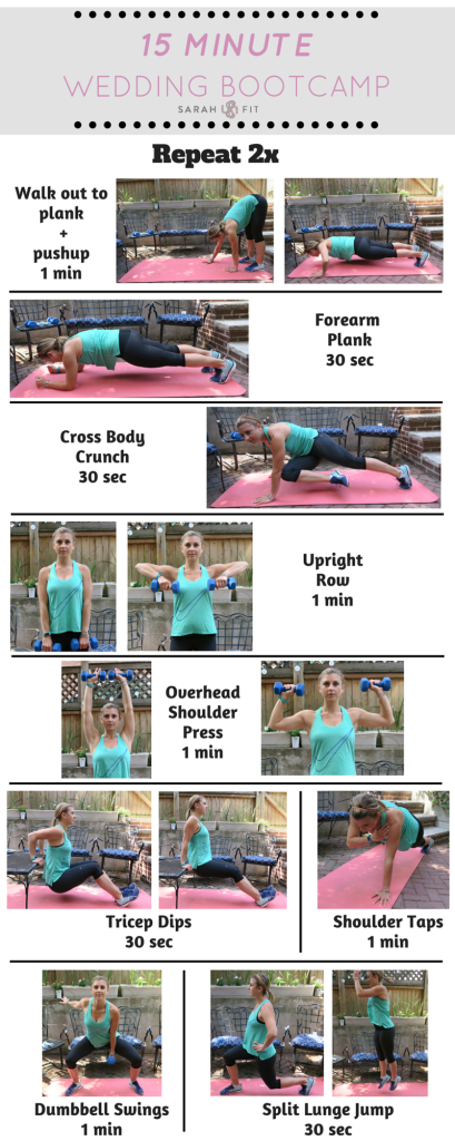 15-minute Lean + Strong Bridal Circuit Workout