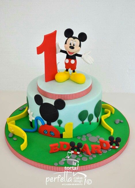 Mickey Mouse Clubhouse Cake Boys Birthday Pastel