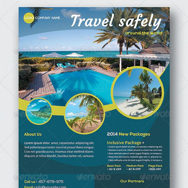Cool Holiday Travel And Tourism Flyer Templates  Magasine