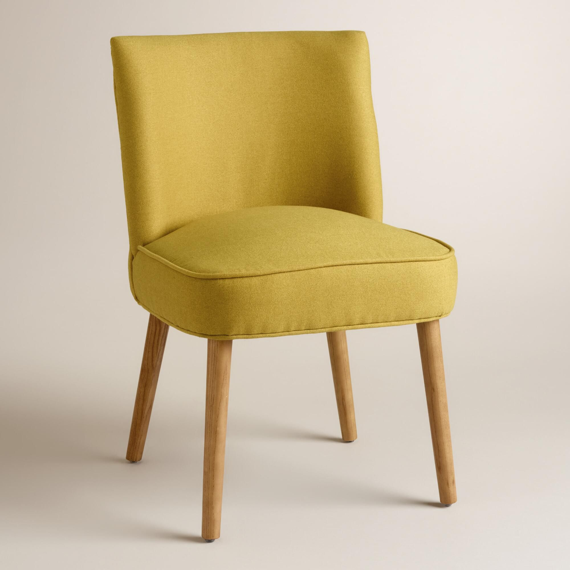 Comfortable Kitchen Chairs: A Low Profile, Tapered Ash Wood Legs And Piping Details