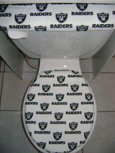 Oakland Raiders Toilet Seat Cover Set Oakland Raiders Logo Nfl
