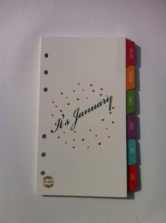 Personal Size - January - December Organizer Index Tab