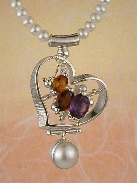 Necklace 7587 fine craft gregory pyra piro handmade heart necklace necklace 7587 fine craft gregory pyra piro handmade heart necklace in solid gold aloadofball Choice Image