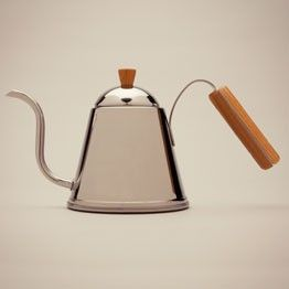 the nicest pour over wood Handle Kettle