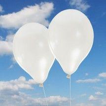 Luftballons Hochzeit Perlmuttschimmer weiß 10 Stück