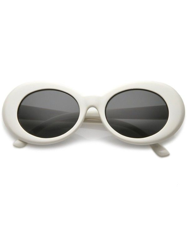 45a146f9f23 Bold Retro Oval Mod Thick Frame Sunglasses Clout Goggles with Round ...