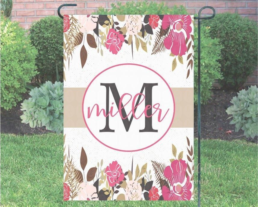 Personalized Last Name Flag Garden Flag Welcome Flag Personalized