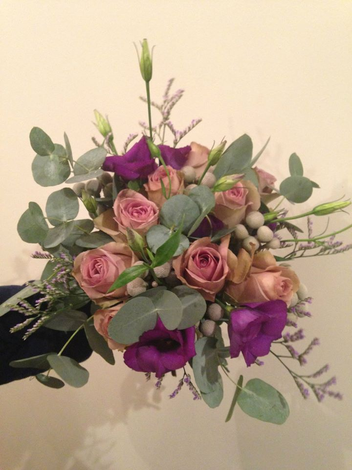 Bridesmaids bouquet, flowers by Jane Hamilton-Smith, venue welcombe hotel Stratford-Upon-Avon
