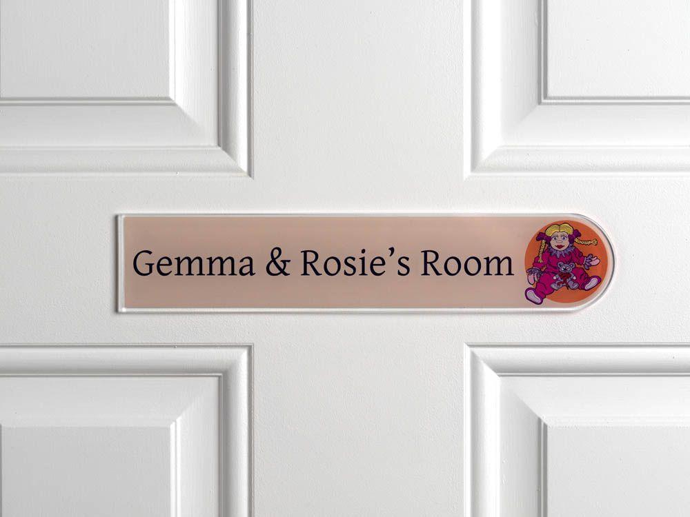 Children\'s bedroom door sign For Little Dollies everywhere ...