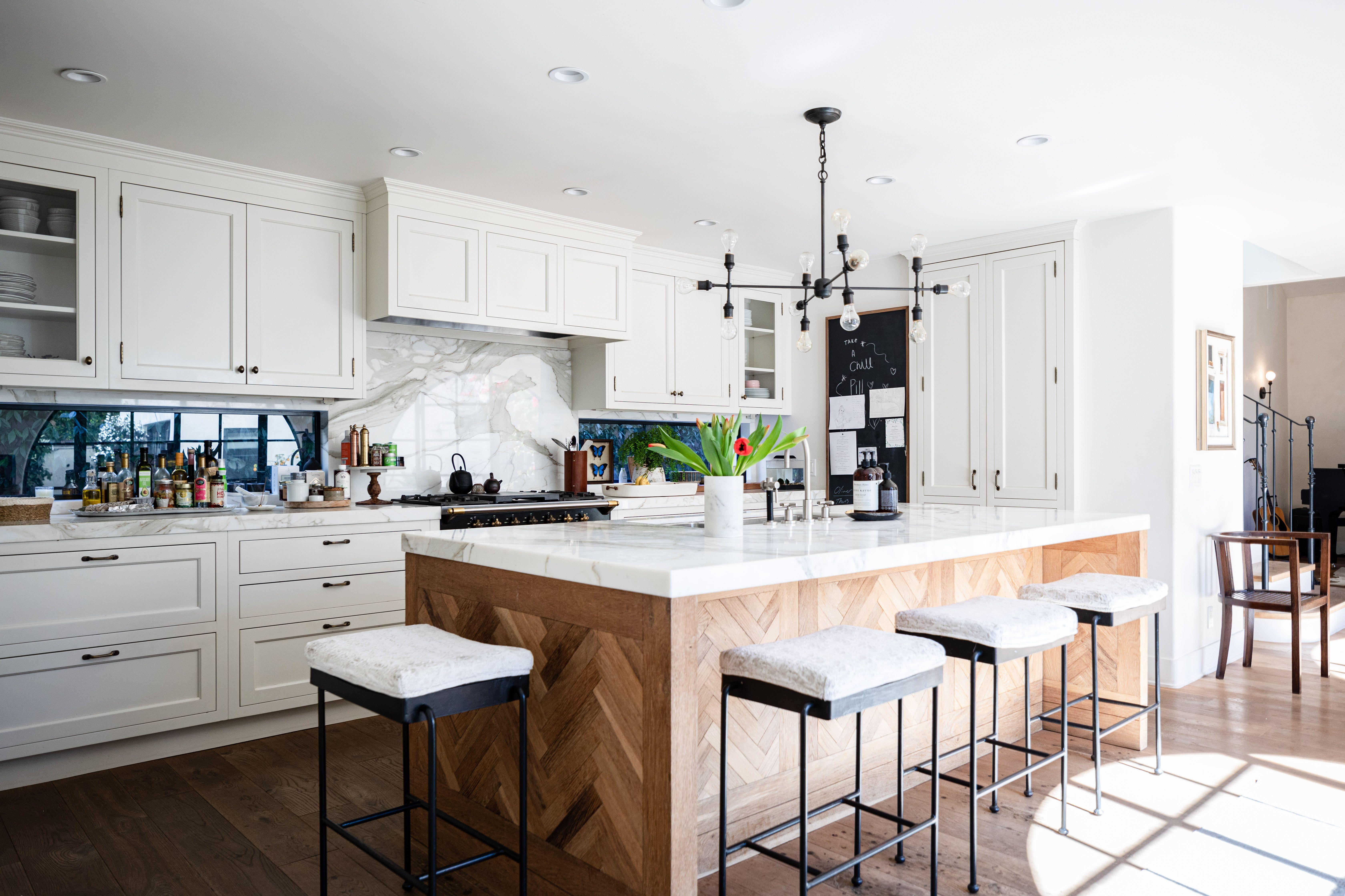 Wood Kitchen Island Ideas In 2020 Wood Kitchen Island Wood Kitchen Retro Kitchen