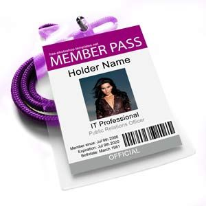 Id Card Member Pass Holder Name Projects To Try Pinterest - Id badge template photoshop