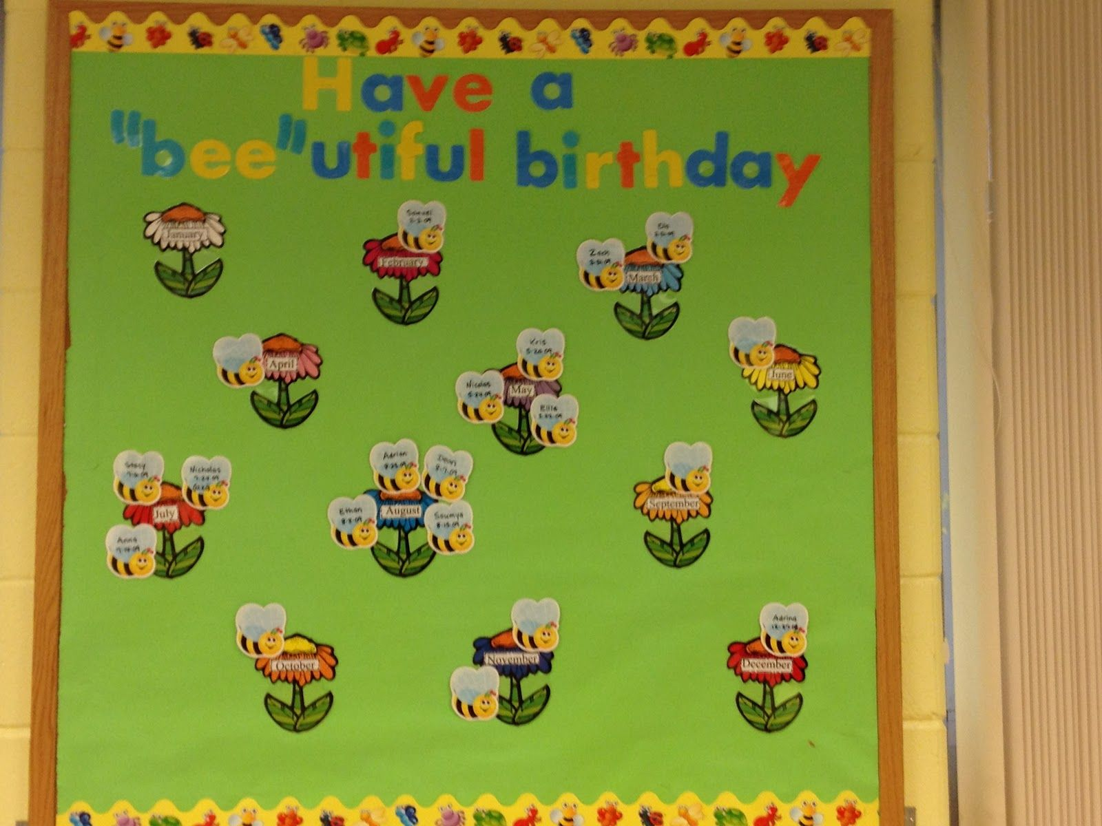 Preschool Bulletin Board Ideas . And With Great Colorful Birthday