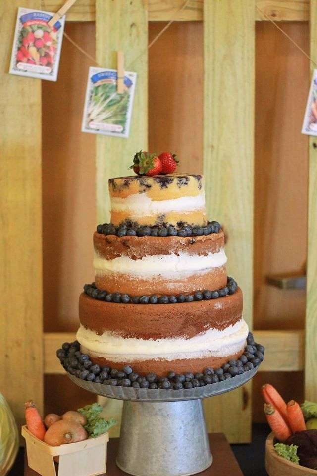 Astonishing Blueberry Layer Cake At A Farmers Market Birthday Party See More Funny Birthday Cards Online Inifodamsfinfo