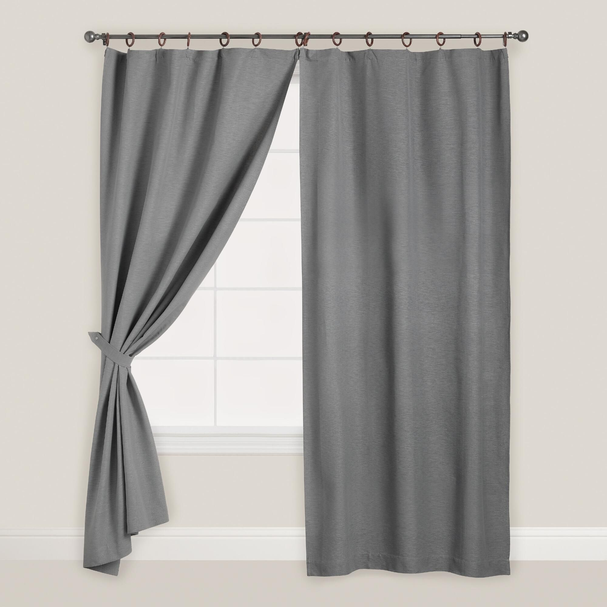 lettres antan parement coton brod curtains curtain voilage gris chambray pin illets