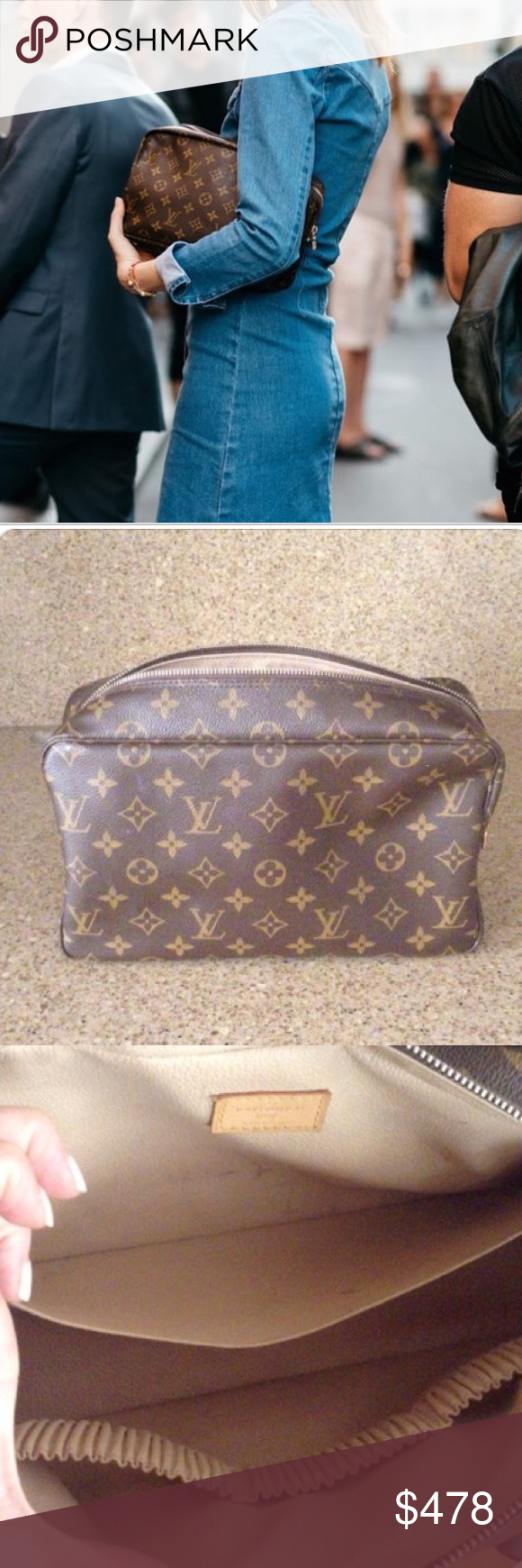 a4a31dce95 Louis Vuitton toiletry pouch GM Authentic LV toiletry pouch in the ...