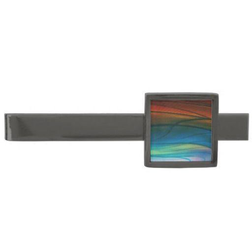 Aurora Borealis Abstract Tie Bar