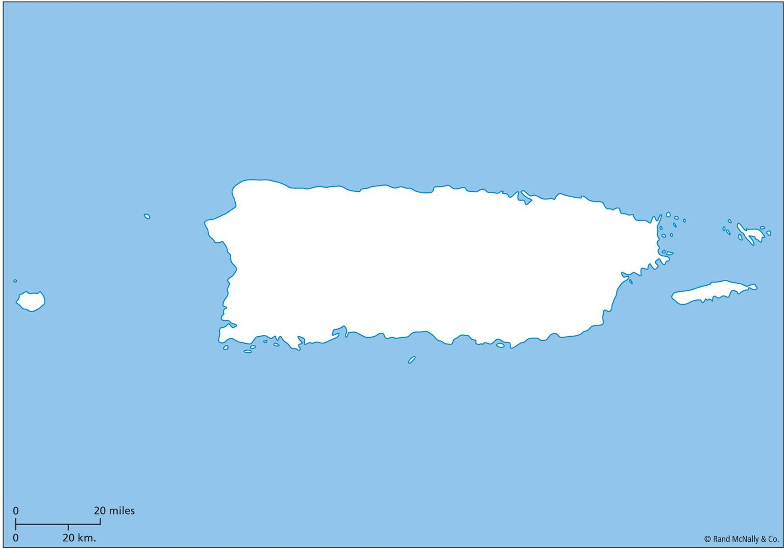 Outline Map Of Puerto Rico With Outline Puerto Rico Map Free