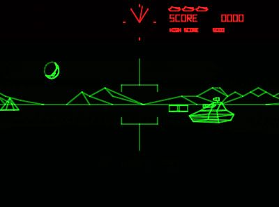 Video Game Battlezone 1980 With Images Retro Arcade Games
