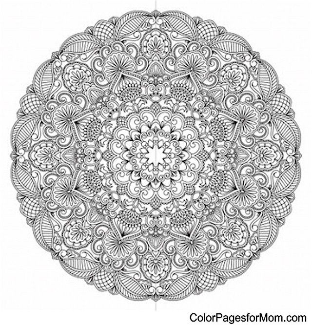 advanced mandala coloring pages printable - photo#39