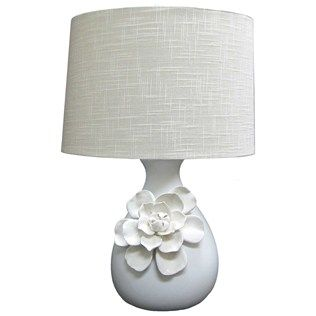 23 White Ceramic Lamp With Flower On Base Shop Hobby Lobby White Ceramic Lamps White Lamp Ceramic Lamp