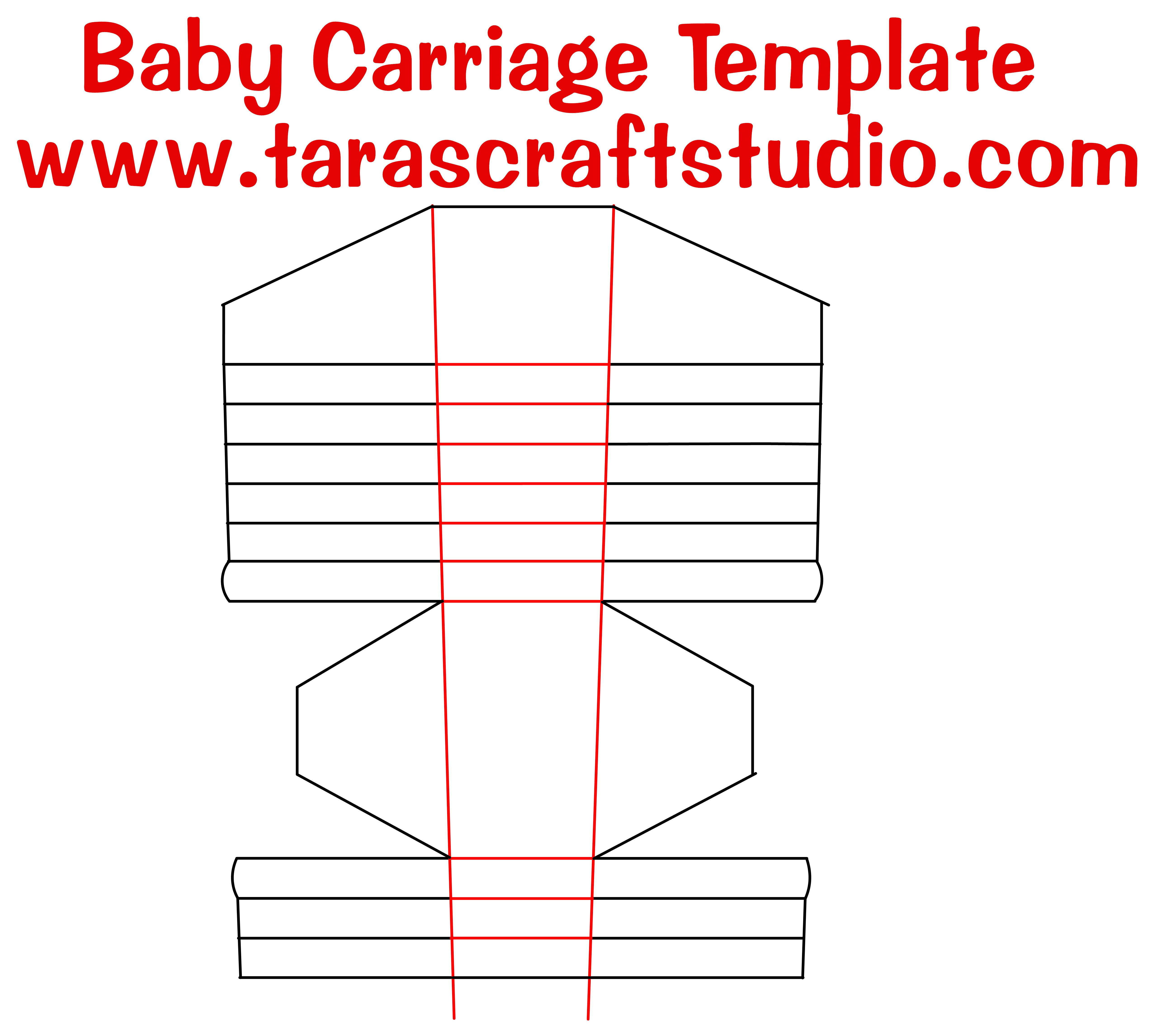 baby carriage template baby carriage with cutting file baby