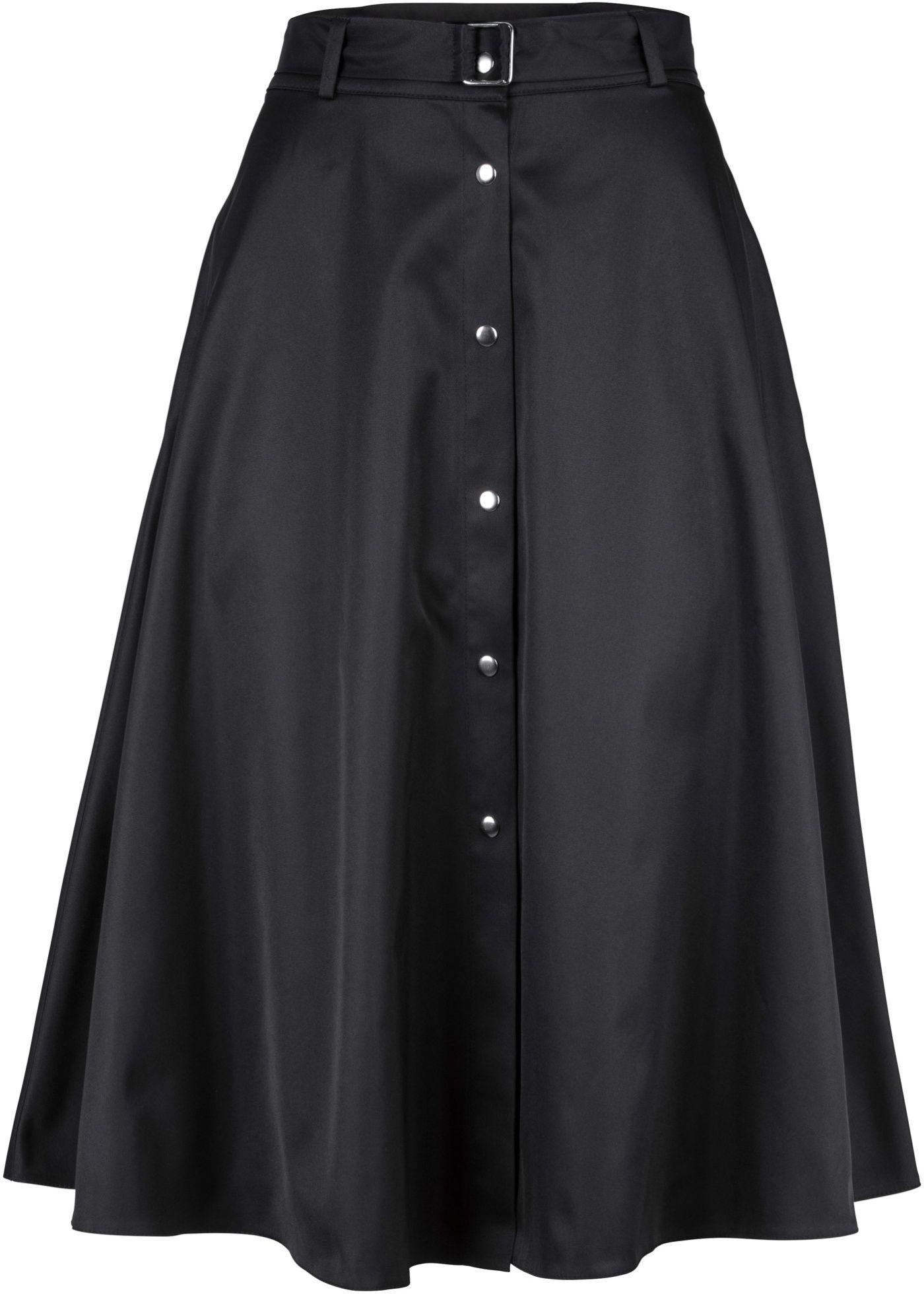 dd51b2faee Saia evasê com botões preto encomendar agora na loja on-line bonprix.com.br  R  119