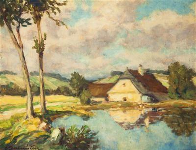 Famous Czech Landscape Artist Ota Bubenicek 유화