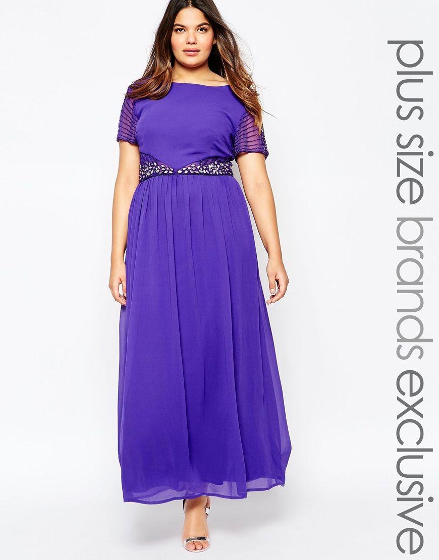 Imagen 1 de Vestido largo con adornos en la cintura de Lovedrobe ...