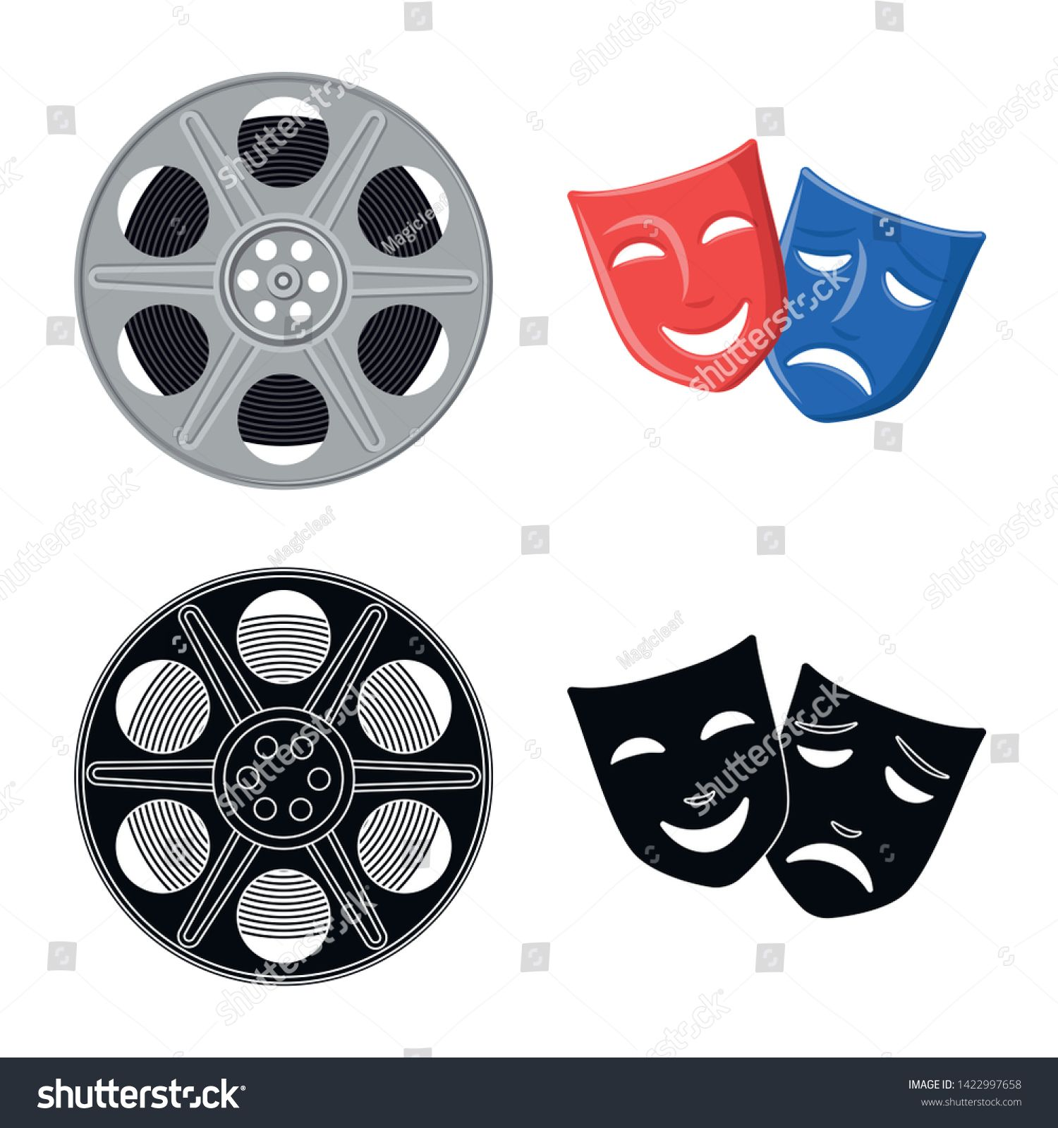 Isolated object of television and filming icon. Set of television and viewing stock vector illustration. #Sponsored , #AFF, #filming#icon#television#Isolated