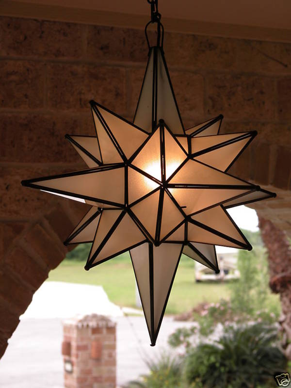 "Moravian 24"" Frosted Glass Star"
