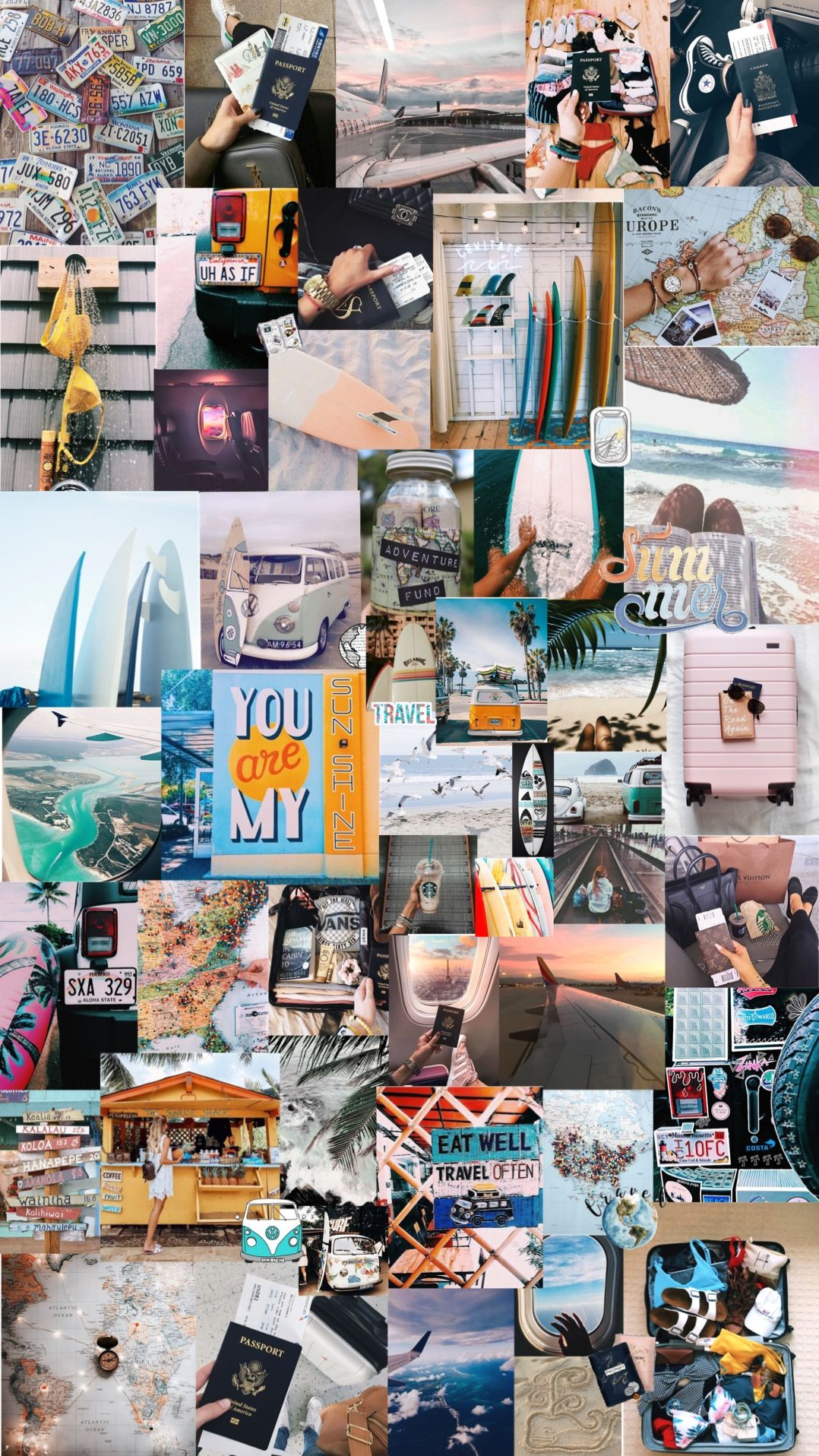 Traveling Aesthetic Background Travel Collage Aesthetic Backgrounds Iphone Wallpaper Travel