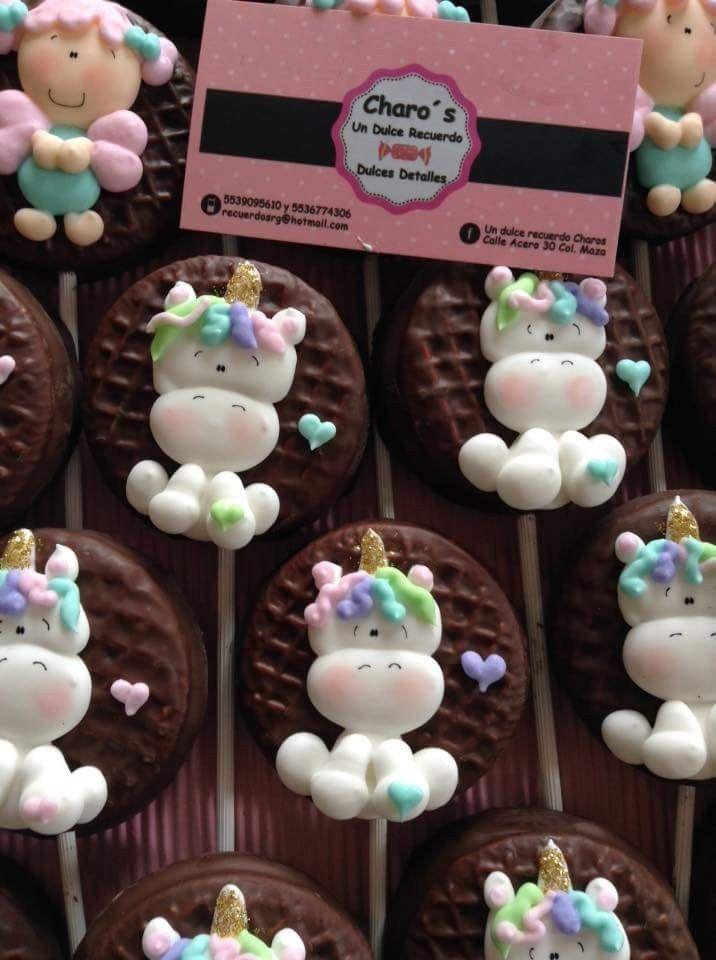 paletas so cute | cumple de unicornios | Dulces de ...