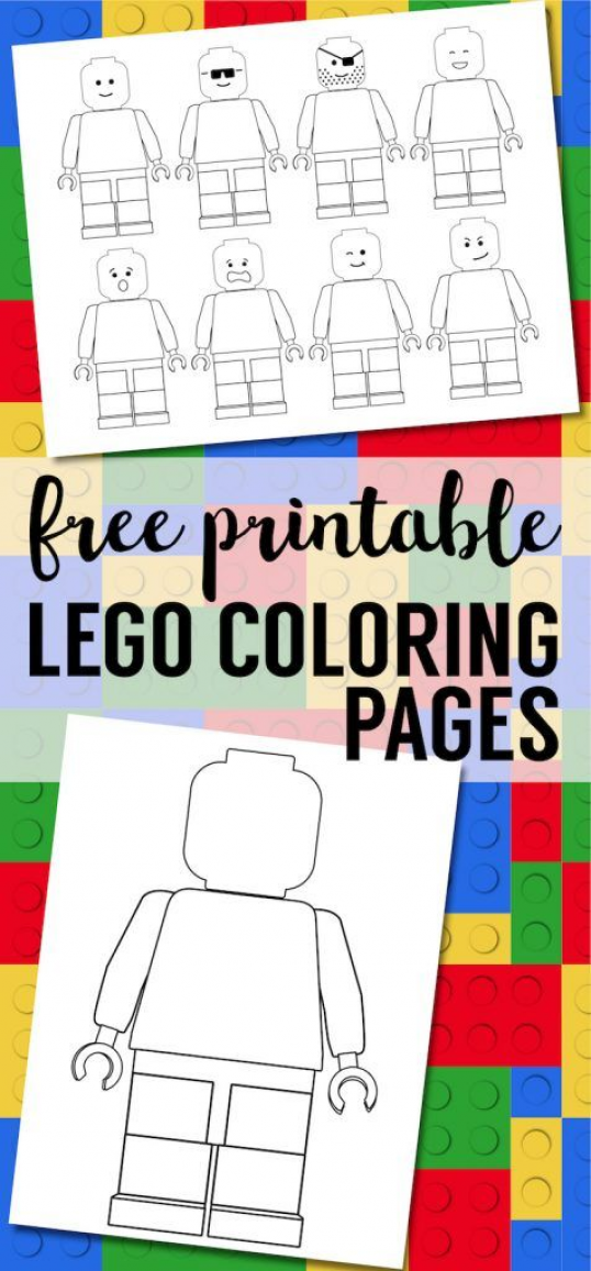 Free Printable Lego Coloring Pages Free Lego Minifigure Coloring Pages For A Lego Birthday Party Blank In 2020 Lego Coloring Pages Lego Coloring Lego Birthday Party