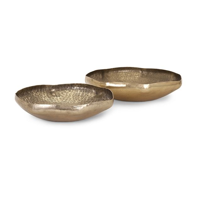 Contemporary Decorative Bowls Valton Hammered Metal Bowls  Set Of 2 $125  Imax  Pinterest