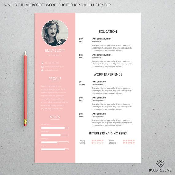 Creative Professional Resume Template For Microsoft Word