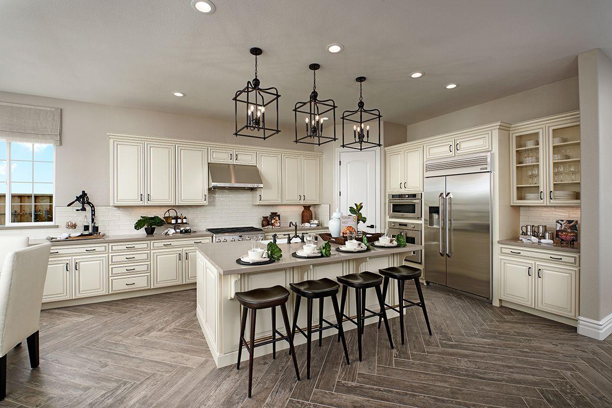 Woodlook tile flooring Perry model home kitchen