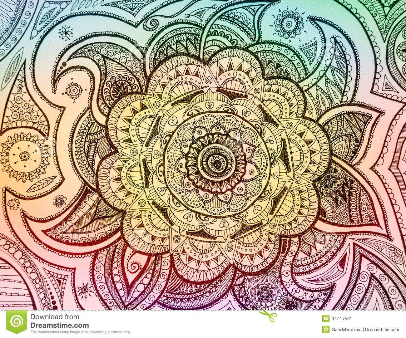 Mandala Paisley Stock Image - Image: 34417531 | Visual Themes ...