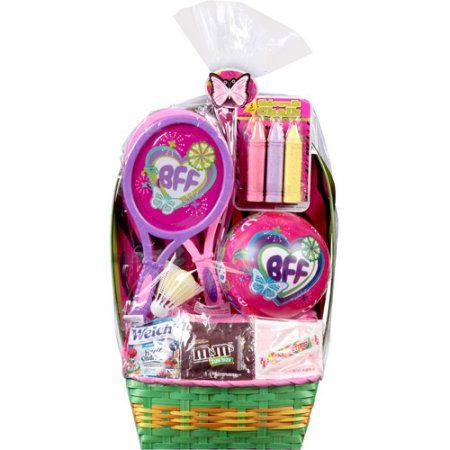 Bff badminton racket set easter basket with toys and assorted bff badminton racket set easter basket with toys and assorted candies walmart negle Image collections