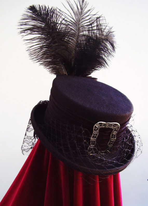 Victorian riding top hat dressage Lady Amaiie by Blackpin on Etsy ... c431a22525e