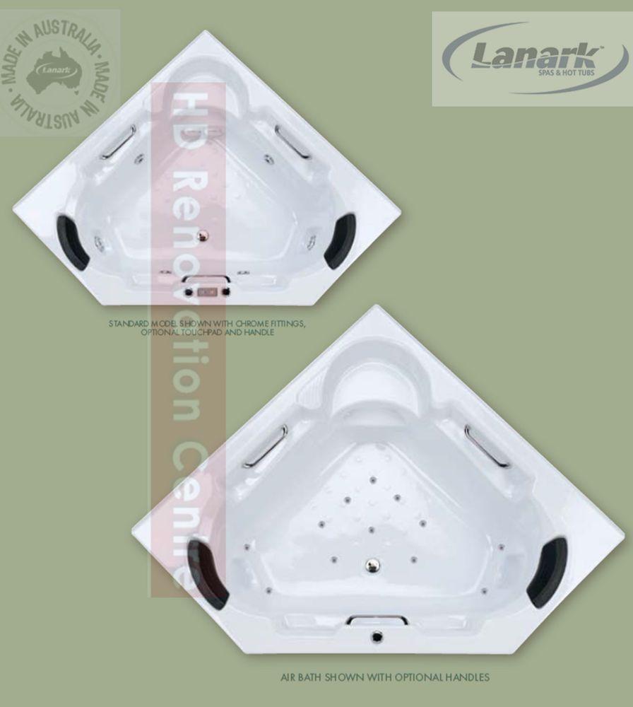 1500 Carla Corner Spa Bath Tub or Bath Only Diamond shape in modern ...
