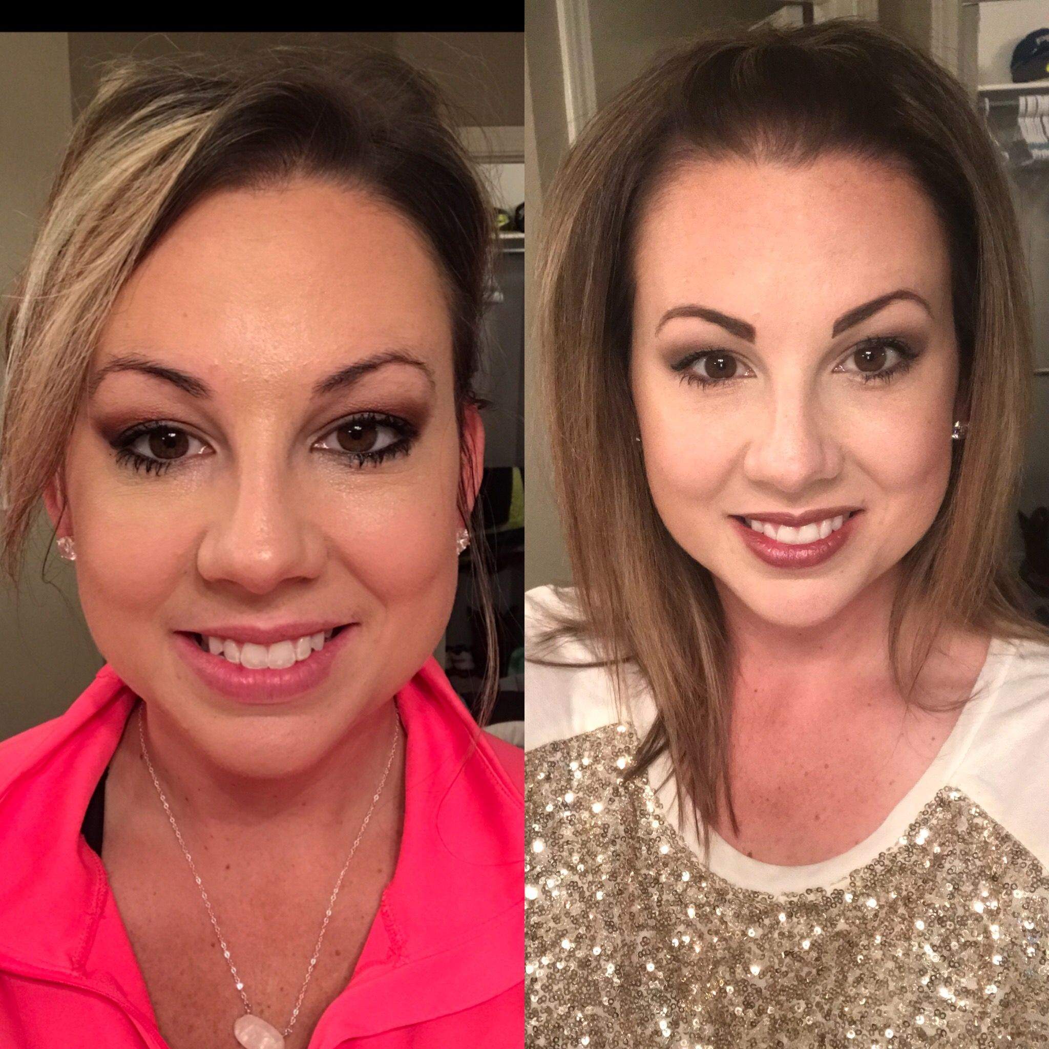 Before limelife and after limelife skincare and make up